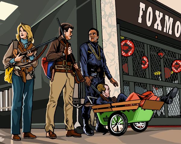 DAWN OF THE DEAD detail by MalevolentNate Cool Movie Fan Art to Keep You Fresh   I.D. 35