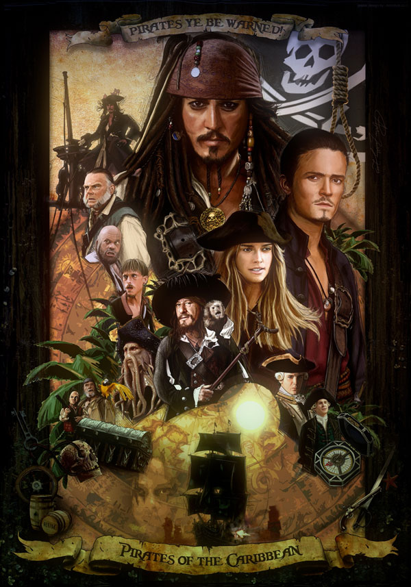 Pirates of the Caribbean by amiramz Cool Movie Fan Art to Keep You Fresh   I.D. 35