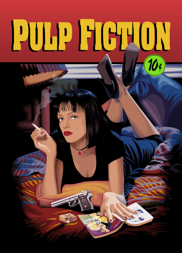 Pulp Fiction by Cappuccino Girl Cool Movie Fan Art to Keep You Fresh   I.D. 35
