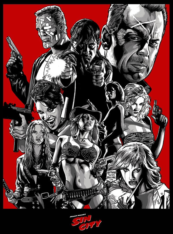 SIN CITY by MalevolentNate Cool Movie Fan Art to Keep You Fresh   I.D. 35