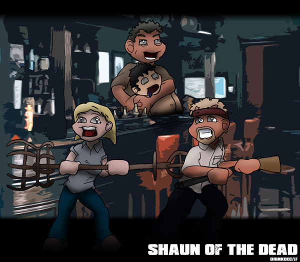 Shaun of the Dead by drinkdecaf Cool Movie Fan Art to Keep You Fresh   I.D. 35