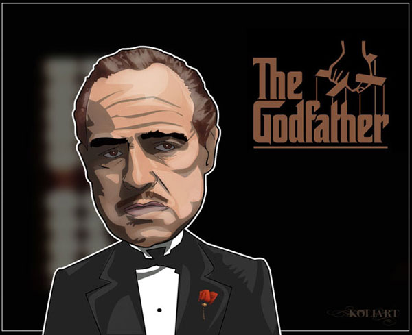 The Godfather by Kolixx Cool Movie Fan Art to Keep You Fresh   I.D. 35