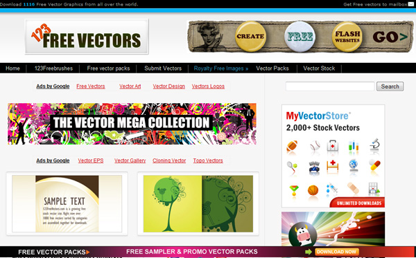 123freevectors Best Sites For Getting Free Vector Art Images   35 Of Them