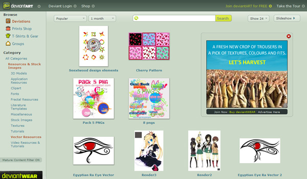 deviantart Best Sites For Getting Free Vector Art Images   35 Of Them