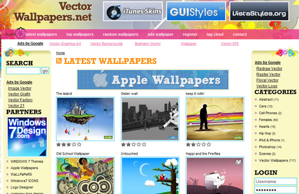 vectorwallpapers Best Sites For Getting Free Vector Art Images   35 Of Them