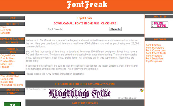 fontfreak 11 Best Sites to Find and Download Free Fonts for Windows & Mac OSX