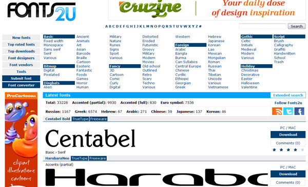 fonts2u 11 Best Sites to Find and Download Free Fonts for Windows & Mac OSX