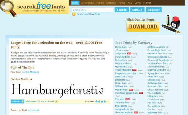 searchfreefonts 11 Best Sites to Find and Download Free Fonts for Windows & Mac OSX