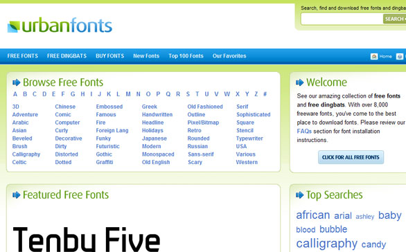urbanfonts 11 Best Sites to Find and Download Free Fonts for Windows & Mac OSX