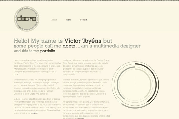 minimal web design portfolio I Am Docto