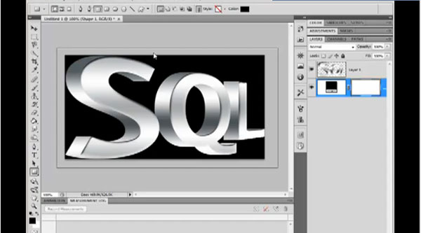 Create 3D text using 2D text in Photoshop