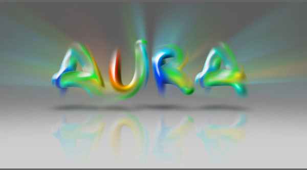 How to Create the Aura Text Effect