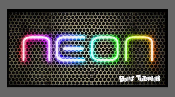 Learn to make a nice text effect neon