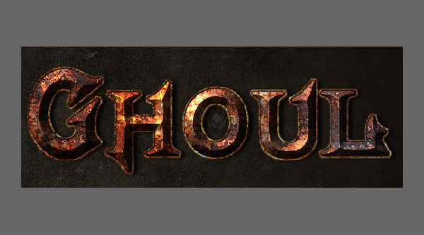 True rusty metal text effect in photoshop