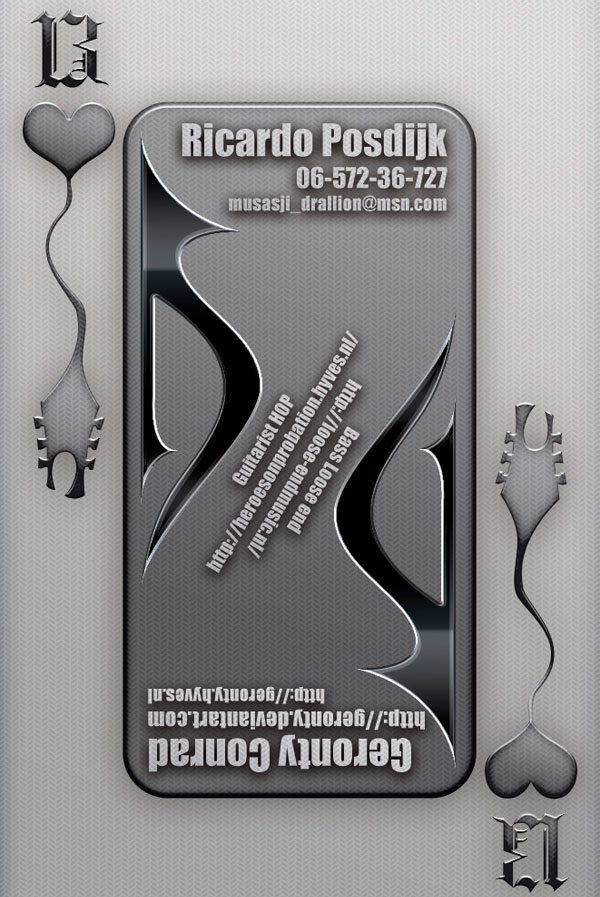 metallic business card
