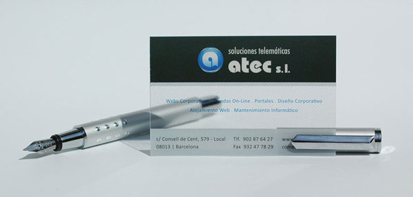 Tarjeta Atec gran 40 Cool Business Cards to Enliven Your Creativity