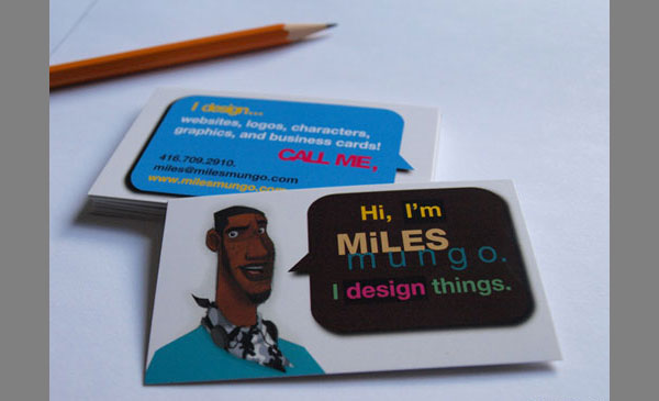 miles business card