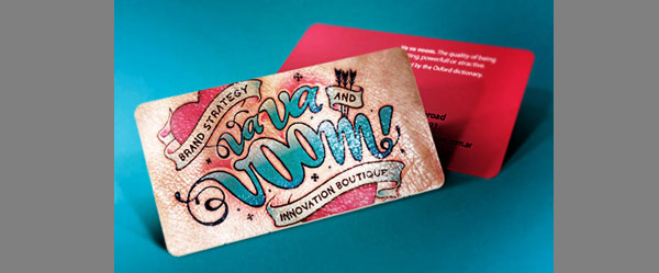 vavavoom business card