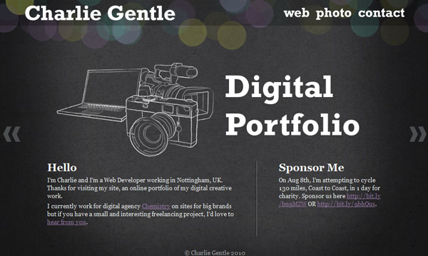 charliegentle 50 Captivating Horizontal Websites