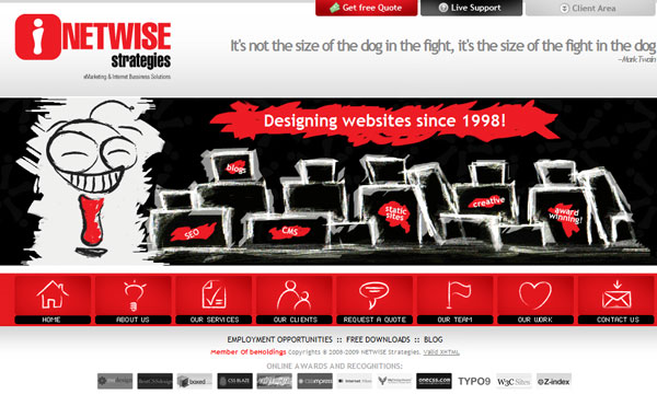 netwise 50 Captivating Horizontal Websites