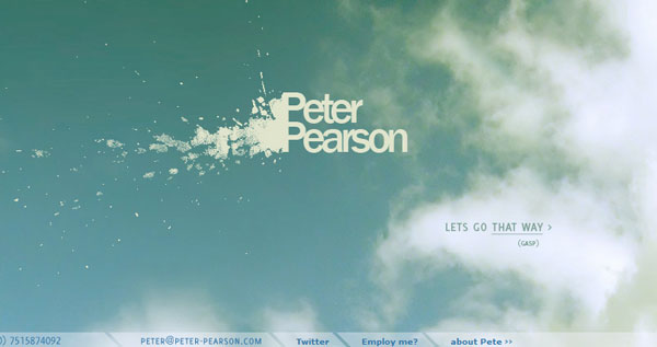 peter 50 Captivating Horizontal Websites