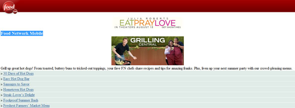 best customized iphone websites Food Network