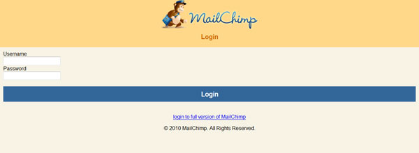 best customized iphone websites MailChimp