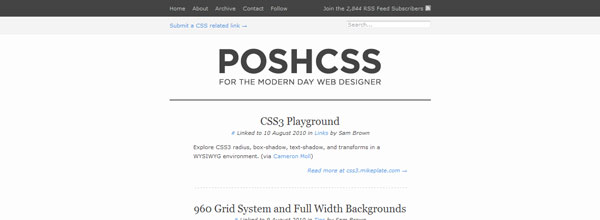 best customized iphone websites Posh CSS