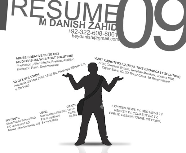 heydani 20 Smart and Creative Resume Design