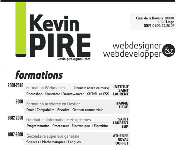 kevinpire 20 Smart and Creative Resume Design