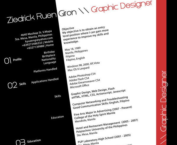 kyuzengi 20 Smart and Creative Resume Design