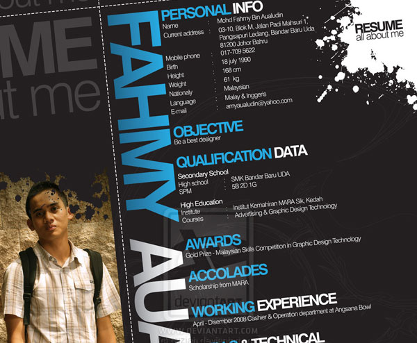 puziah 20 Smart and Creative Resume Design