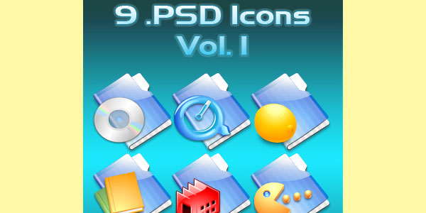 6 .PSD Icons Vol. 1