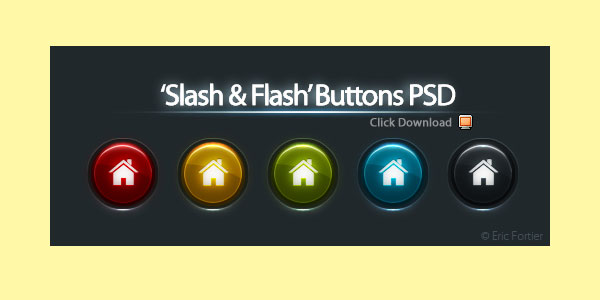Buttons PSD by El3ment4l 20 Free High Quality PSD Buttons, Icons & Badges
