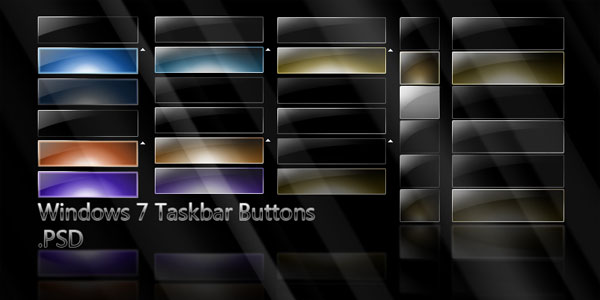 Win7 Taskbar Buttons  PSD by giannisgx89 20 Free High Quality PSD Buttons, Icons & Badges