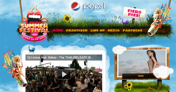 summerfestival Top 25 Flash Websites