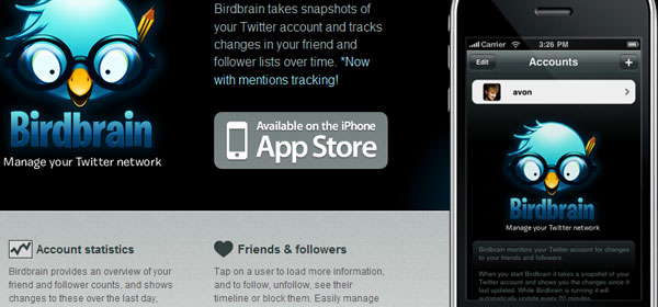 birdbrainapp 80 Best iPhone Application Websites