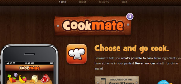 cookmateapp 80 Best iPhone Application Websites