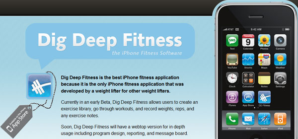 digdeepfitness 80 Best iPhone Application Websites