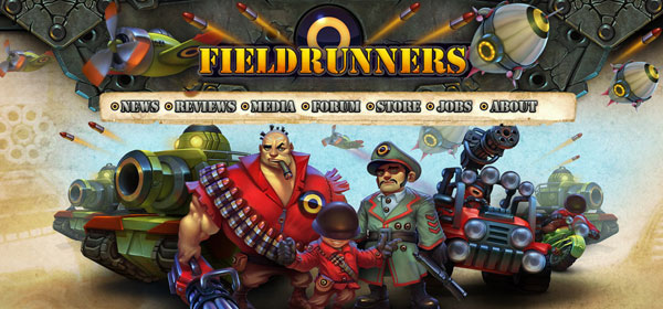 fieldrunners 80 Best iPhone Application Websites