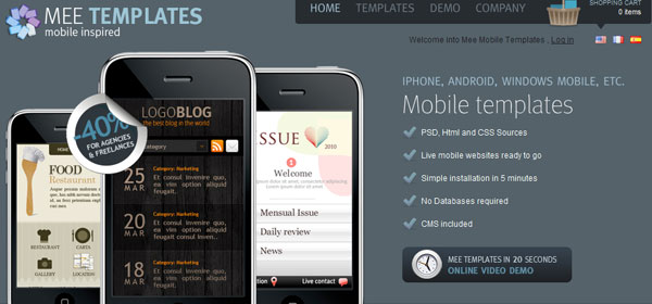 meetemplates 80 Best iPhone Application Websites