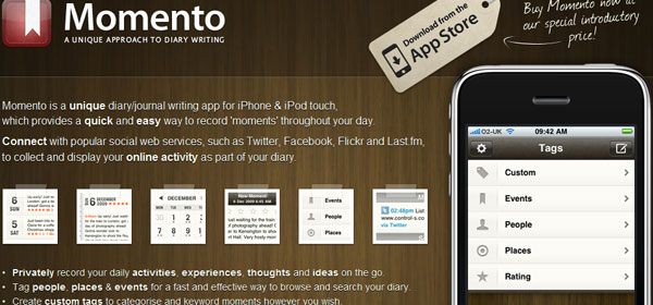 momentoapp 80 Best iPhone Application Websites