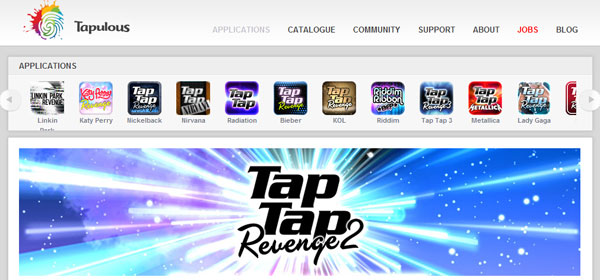 tapulous 80 Best iPhone Application Websites