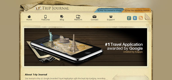 trip 80 Best iPhone Application Websites