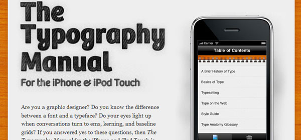 typographyapp 80 Best iPhone Application Websites