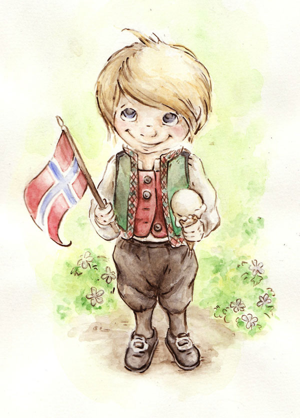 17 mai by DreamsOfALostSpirit Adorable Work of Illustrator Jeanette Salvesen   I.D. 58