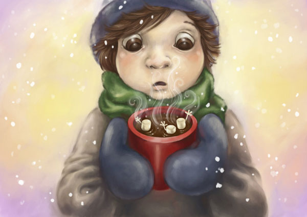 Cocoa with Marshmallows by DreamsOfALostSpirit Adorable Work of Illustrator Jeanette Salvesen   I.D. 58