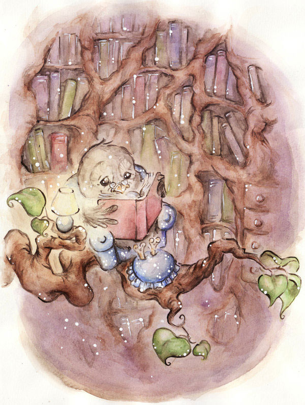 Library by DreamsOfALostSpirit Adorable Work of Illustrator Jeanette Salvesen   I.D. 58