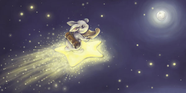 Shooting Star by DreamsOfALostSpirit Adorable Work of Illustrator Jeanette Salvesen   I.D. 58