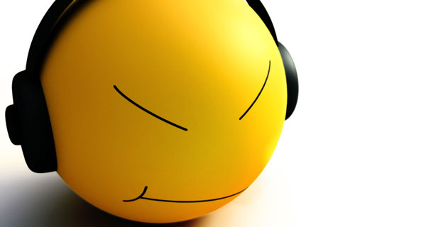Smiley Listen Music
